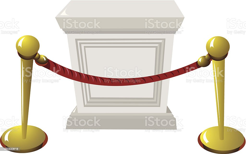 Empty Pedestal royalty-free stock vector art