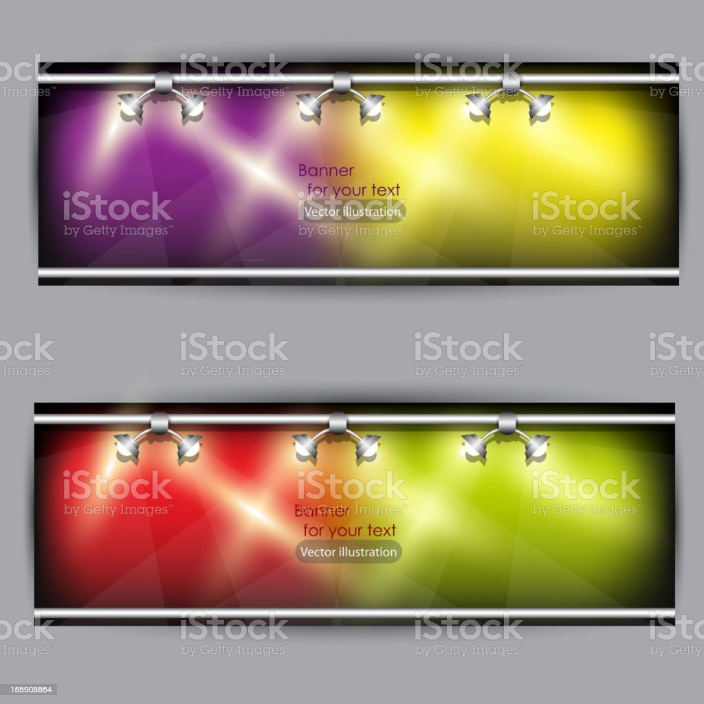 Empty placard for product advertising with lighting royalty-free stock vector art