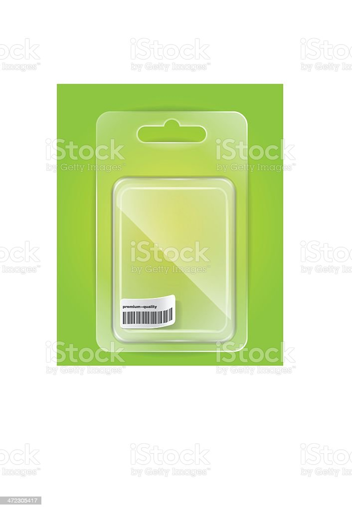 Empty plastic blister for your goods royalty-free stock vector art