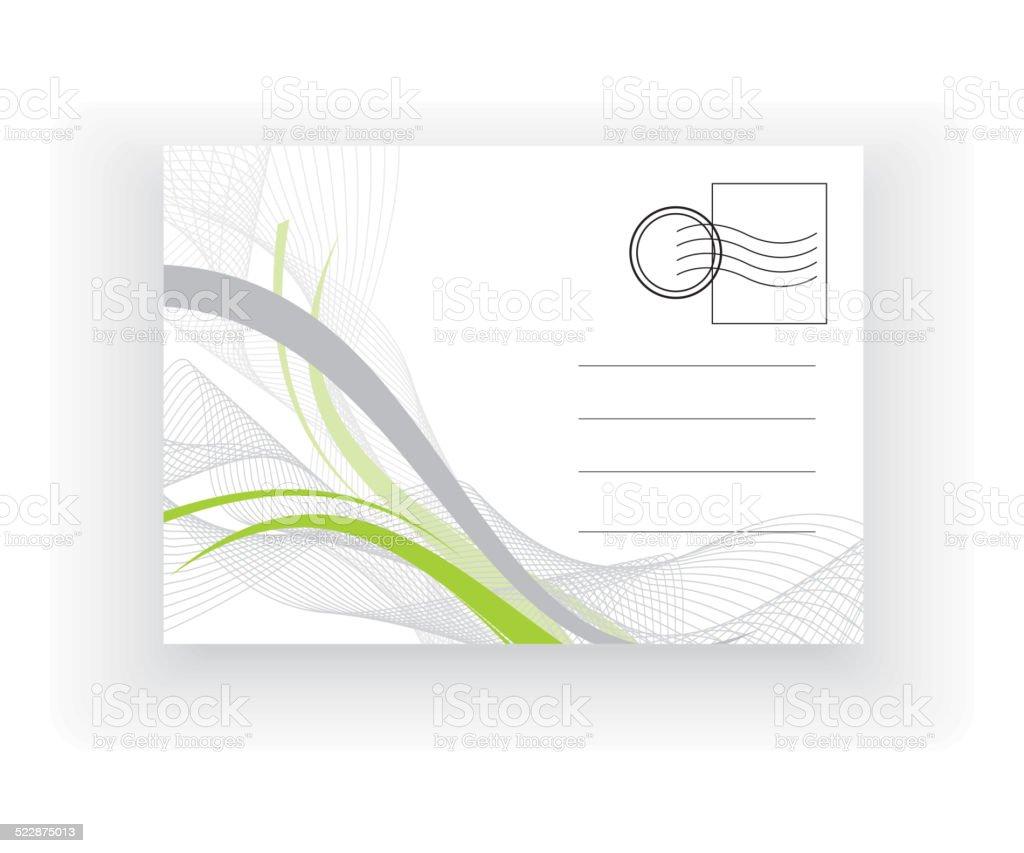 empty post card vector art illustration