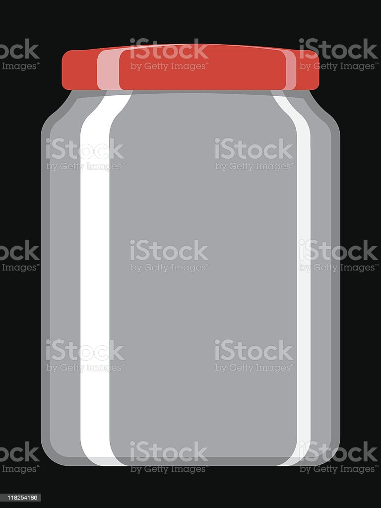 Empty preserving jar royalty-free stock vector art