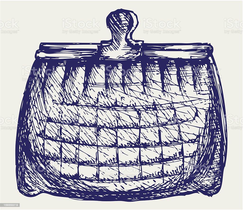 Empty purse royalty-free stock vector art
