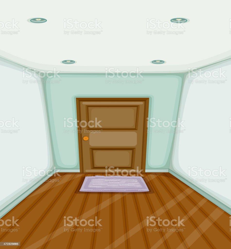 Empty room royalty-free stock vector art
