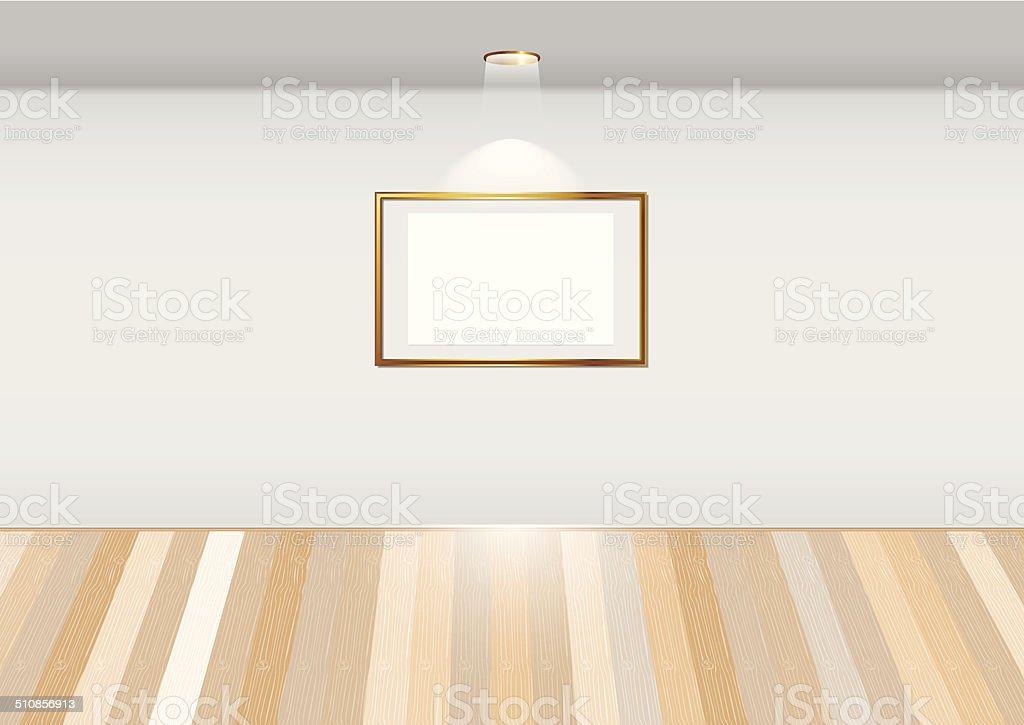 Salle vide avec blank image stock vecteur libres de droits libre de droits