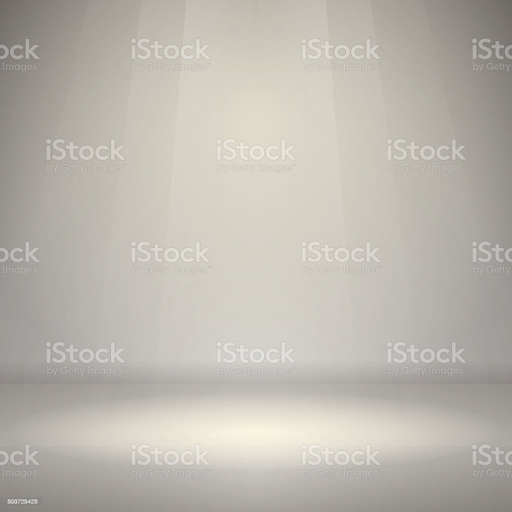 Empty Room with Light vector art illustration