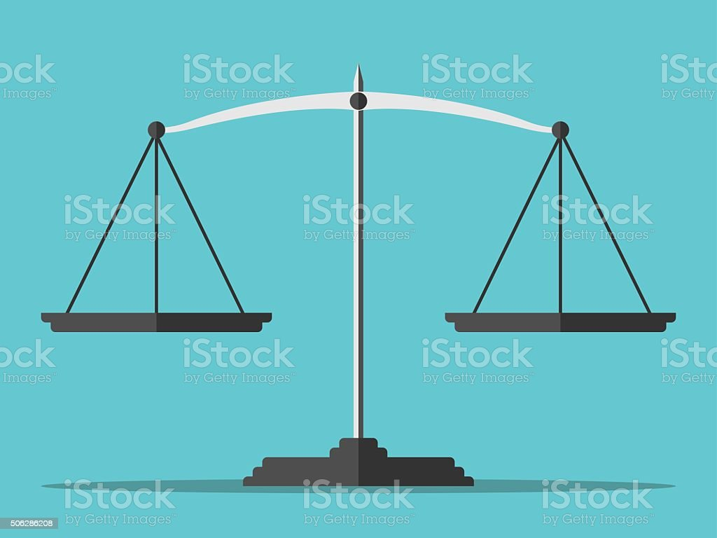 Empty scales, flat style vector art illustration