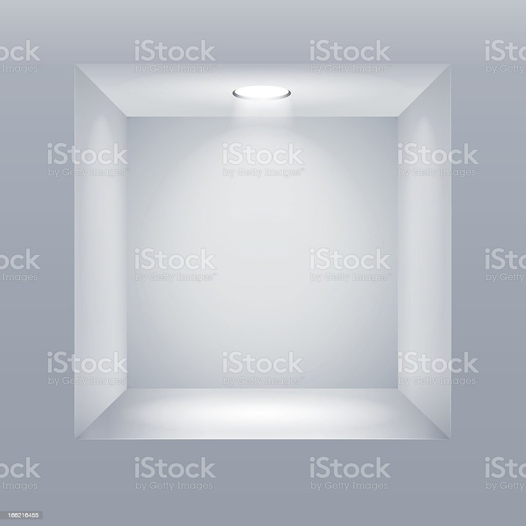 Empty shelf in the wall royalty-free stock vector art