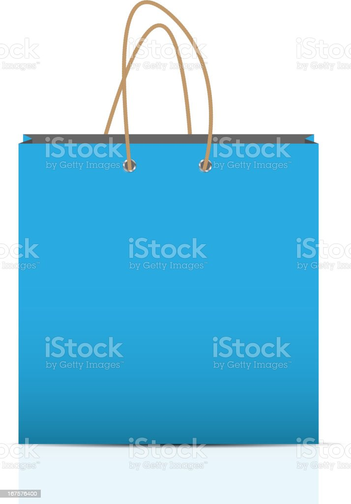 Empty Shopping Bag  for advertising and branding vector illustration royalty-free stock vector art