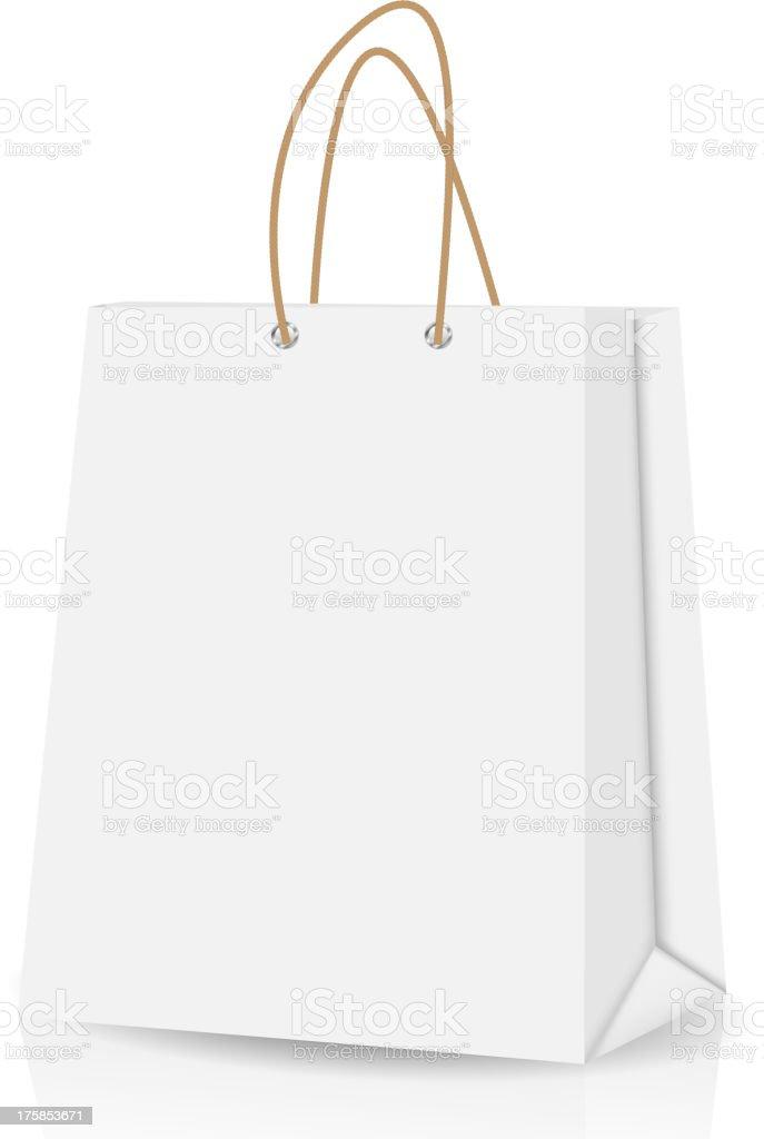 Empty Shopping Bag  for advertising and branding vector illustration royalty-free stock vector art