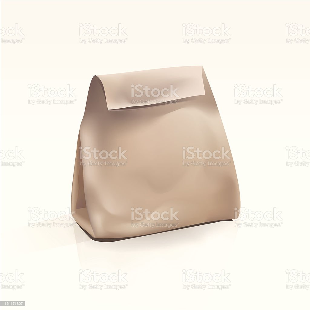 Empty Shopping Bag on White Background royalty-free stock vector art
