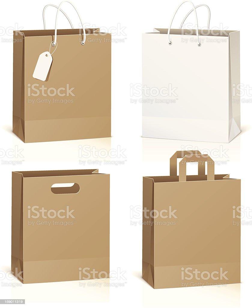 Empty shopping bag royalty-free stock vector art