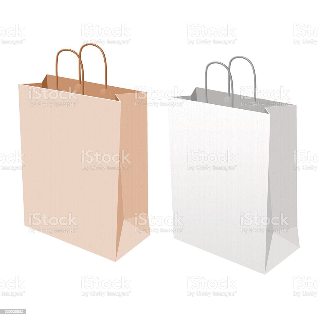 Empty Shopping Bag stock vector art 636528982 | iStock