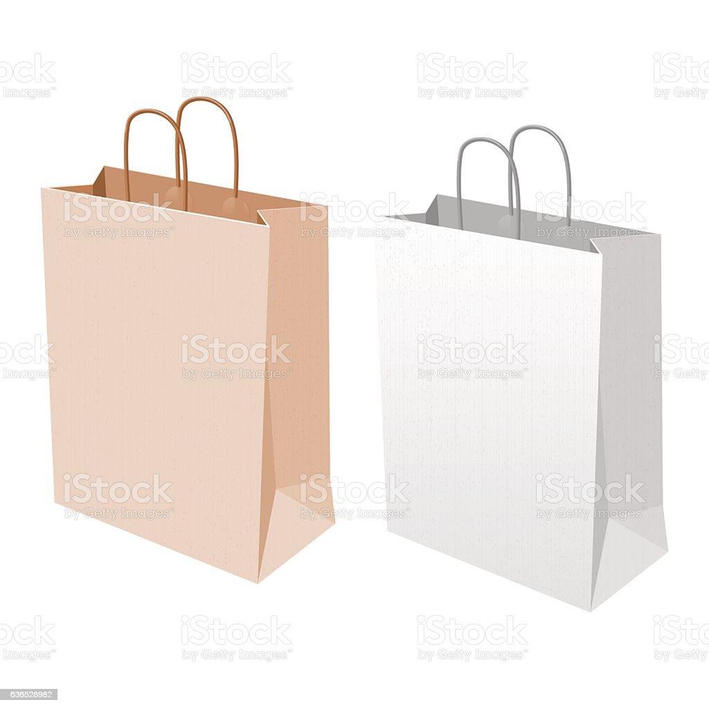 Empty Shopping Bag stock vector art 636528982 | iStock