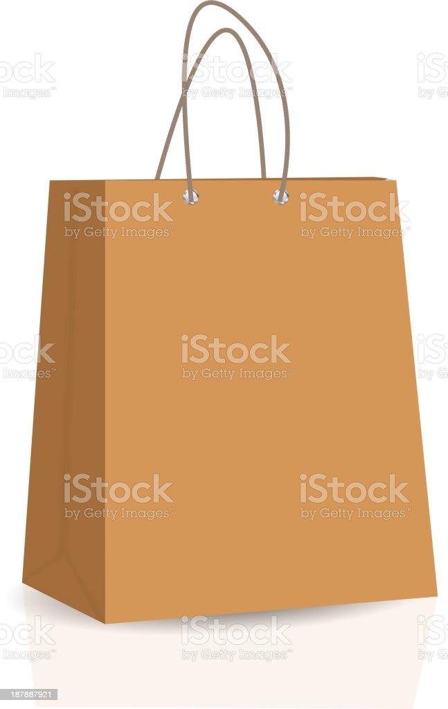 Empty Shopping Bag vector illustration royalty-free stock vector art