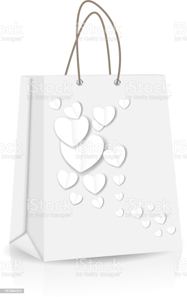 Empty Shopping Bag with heart  for advertising vector illustration royalty-free stock vector art