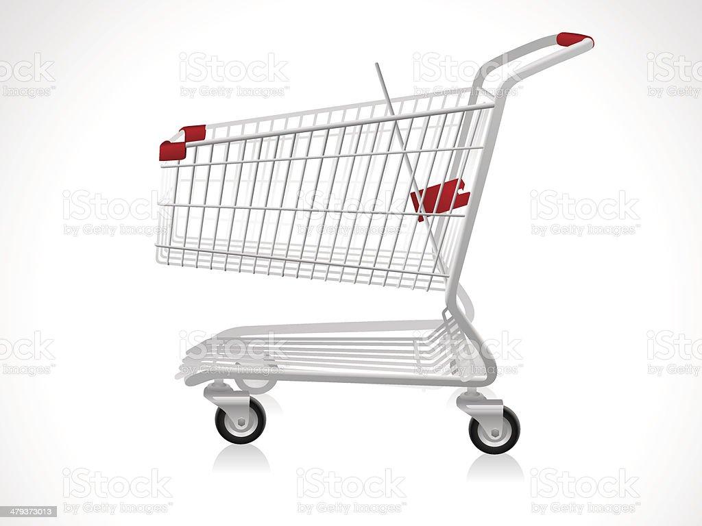 Empty Shopping Cart vector art illustration