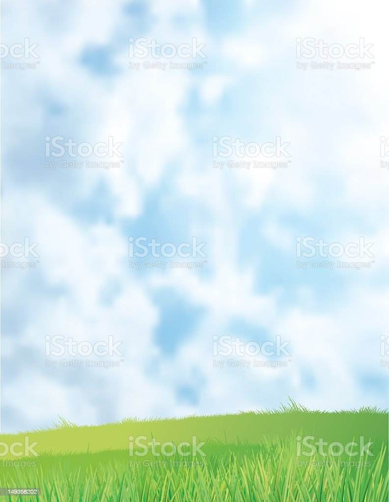 Empty Sky and Grass royalty-free stock vector art