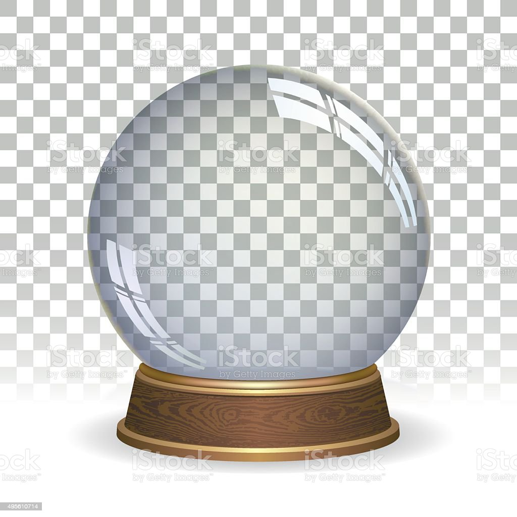 Empty snow globe vector art illustration