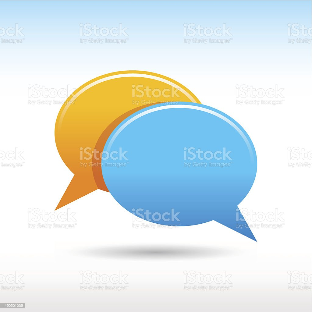 Empty speech bubble icon blank chat room web button vector art illustration