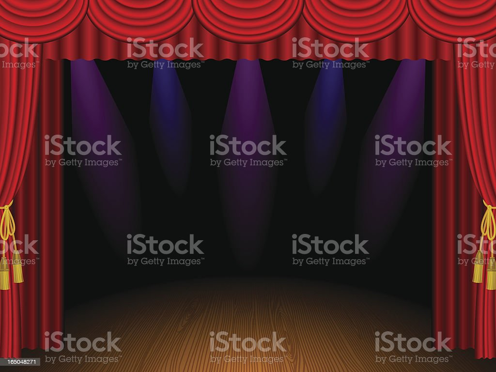 empty stage royalty-free stock vector art