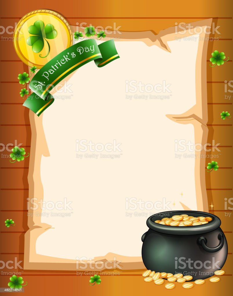 empty stationery for St. Patrick's Day royalty-free stock vector art