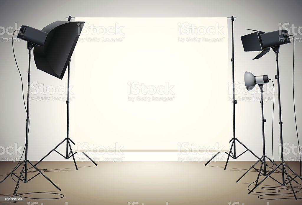 empty studio vector art illustration