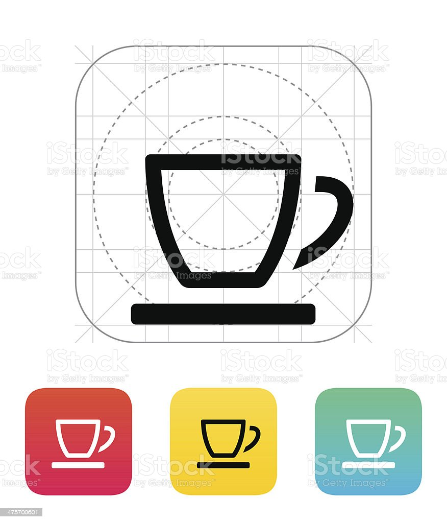 Empty tea cup icon. royalty-free stock vector art
