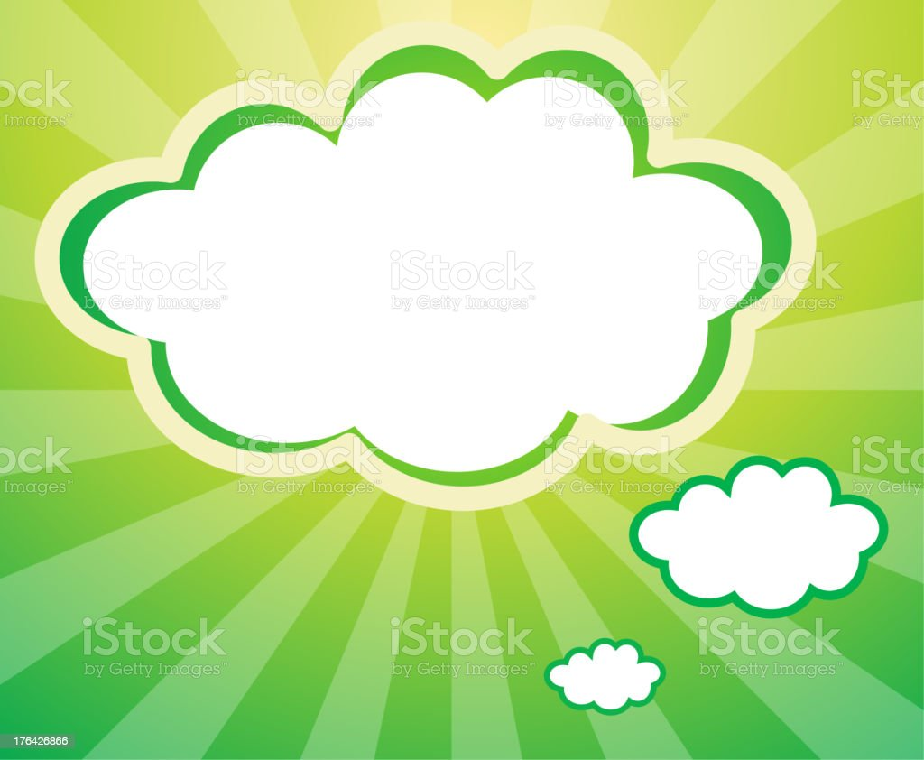 Empty template in a cloud form royalty-free stock vector art