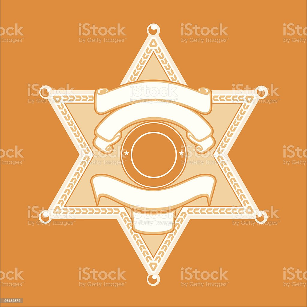 Empty template that can be used as a sheriffs batch vector art illustration