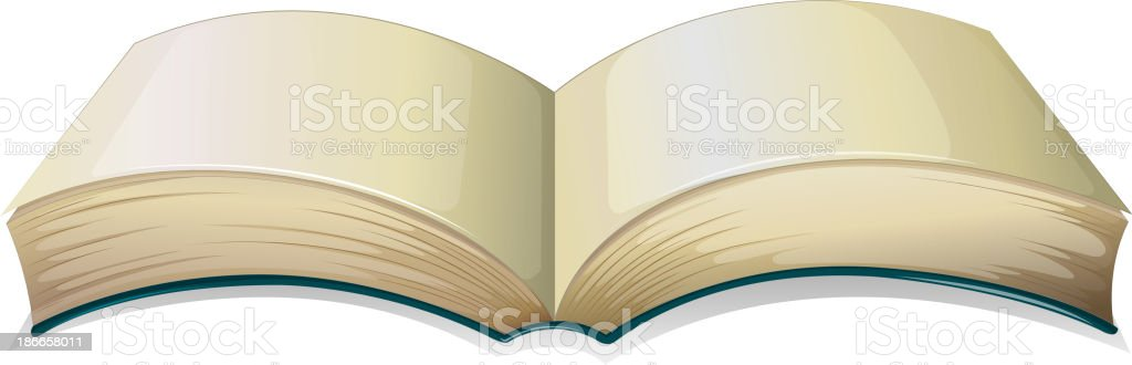 empty thick book vector art illustration
