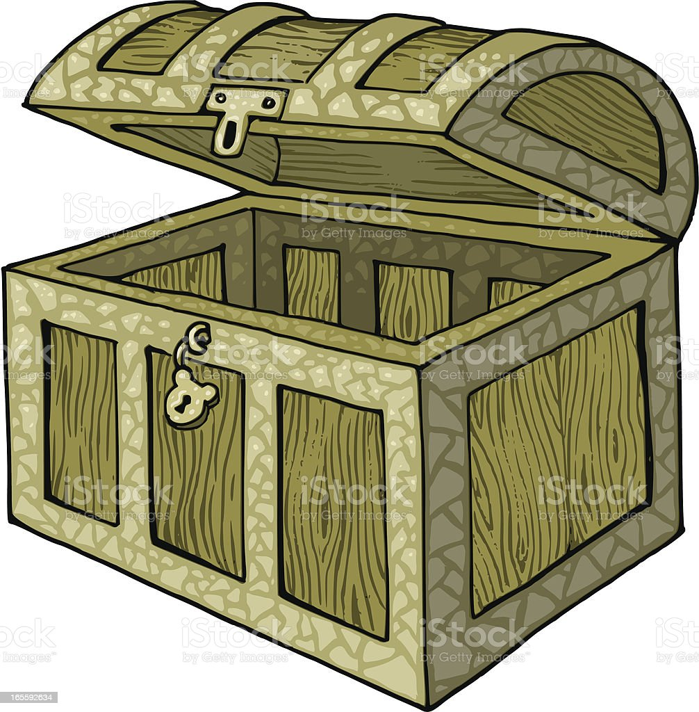 Empty treasure chest royalty-free stock vector art
