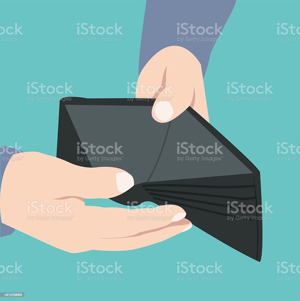 Empty wallet, broke - Illustration vector art illustration