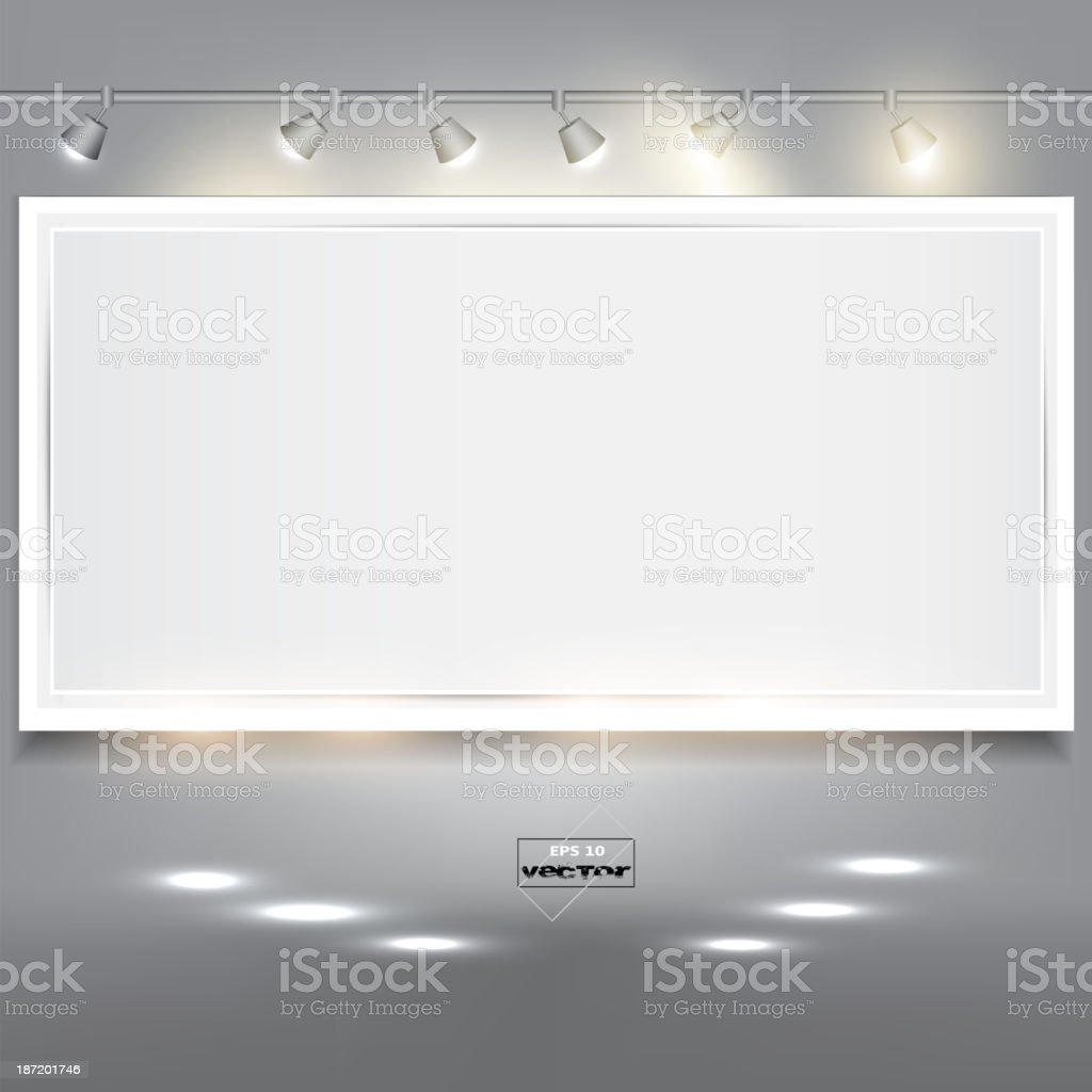 Empty white banner for product advertising royalty-free stock vector art