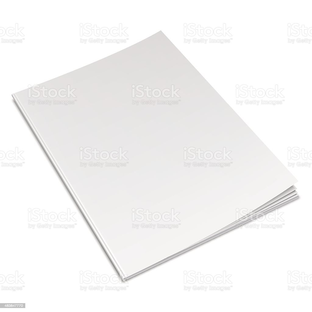 Empty White Book vector art illustration