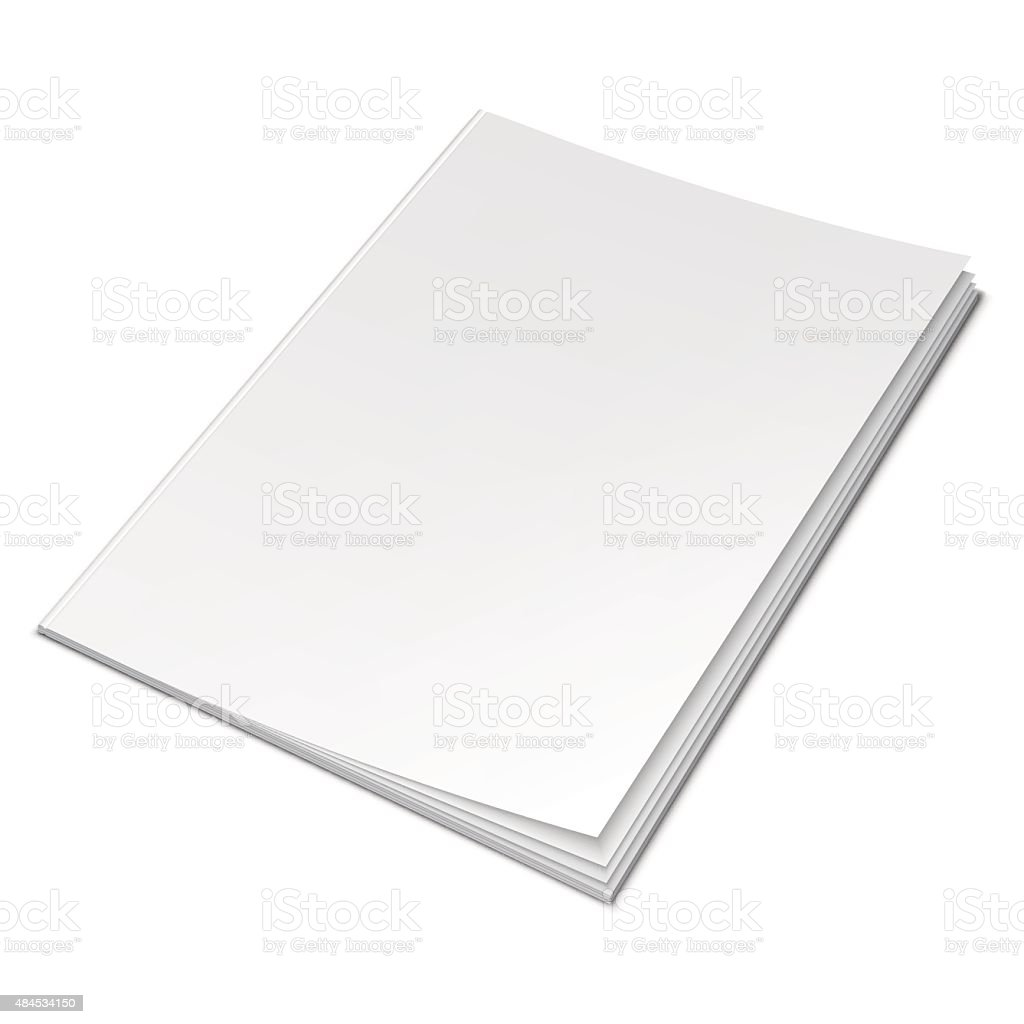 Empty White Book vector art illustration