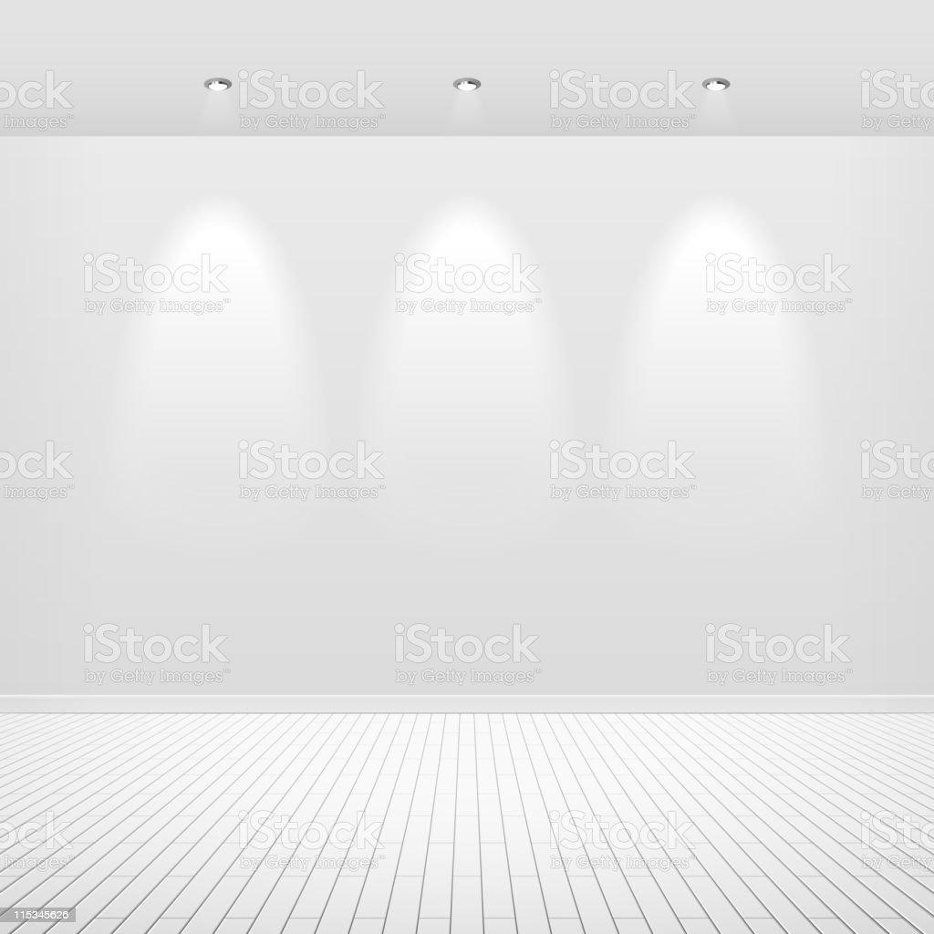 Empty white wall royalty-free stock vector art