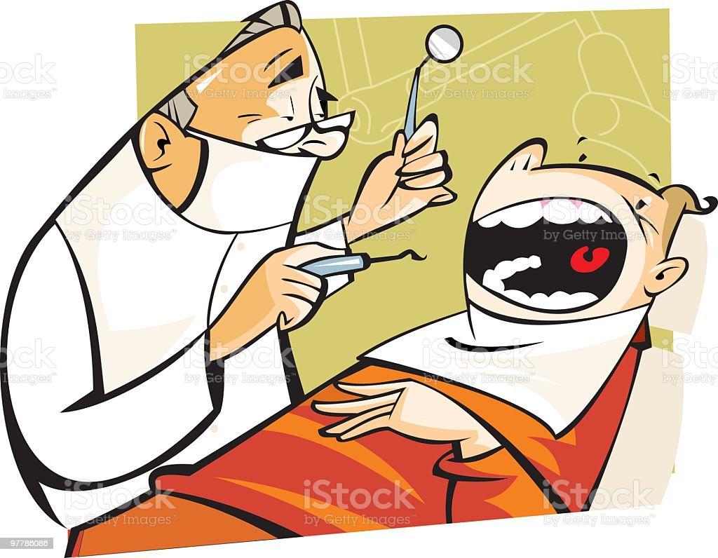 en el dentista royalty-free stock vector art