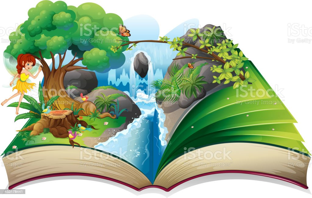 enchanted book vector art illustration