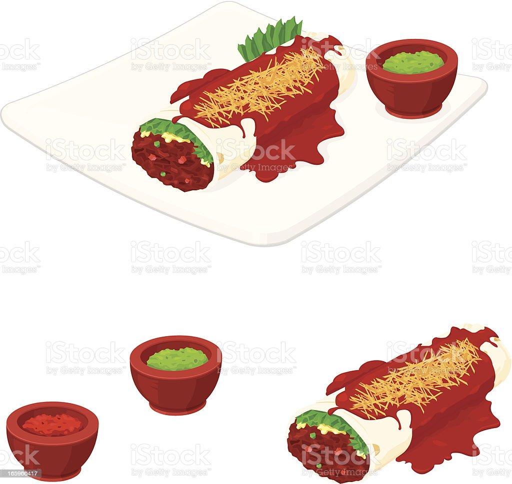 Enchilada vector art illustration