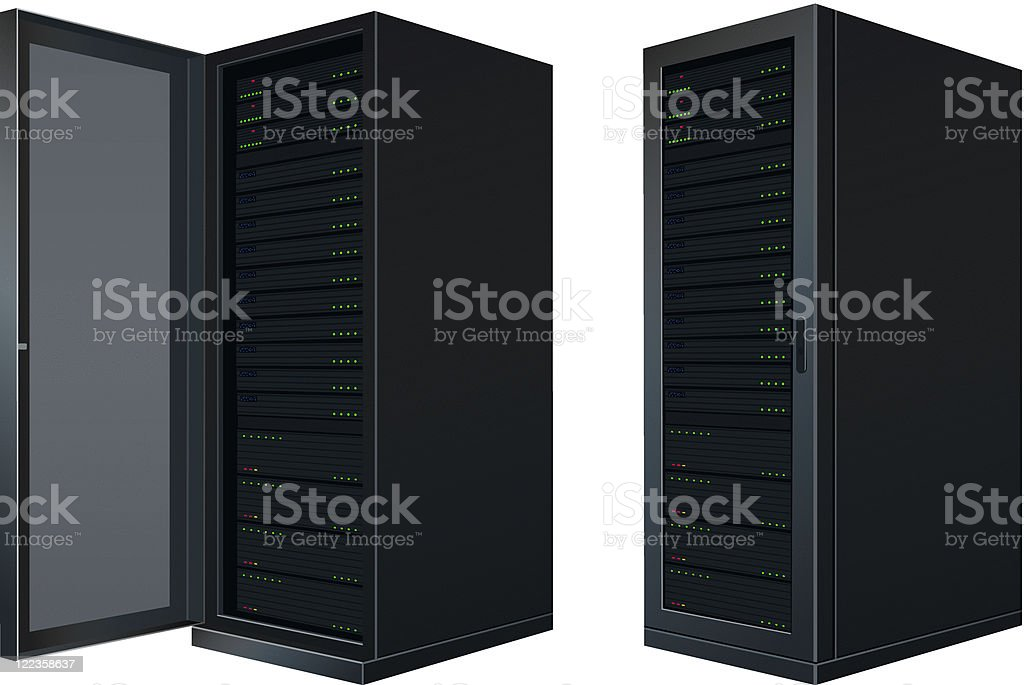 IT Enclosure vector art illustration