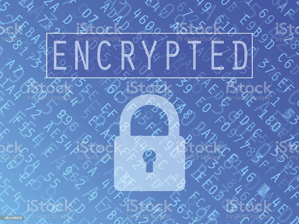 Encrypted Data Background vector art illustration