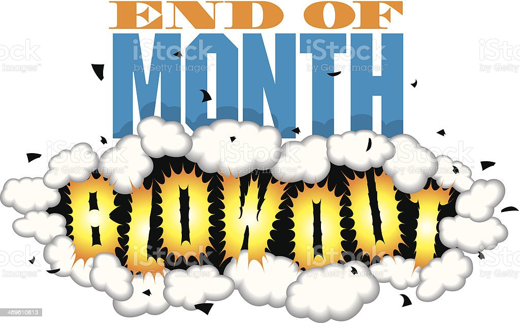End Of Month Heading C royalty-free stock vector art