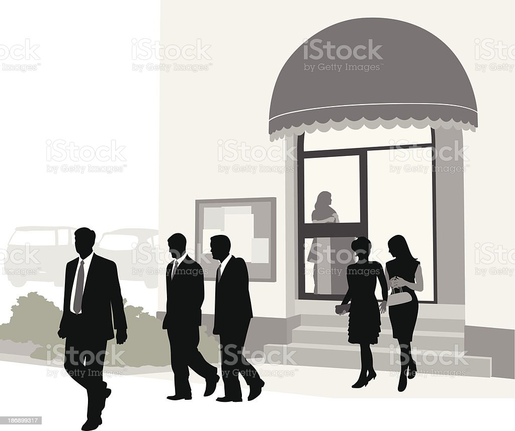 End of the Day royalty-free stock vector art