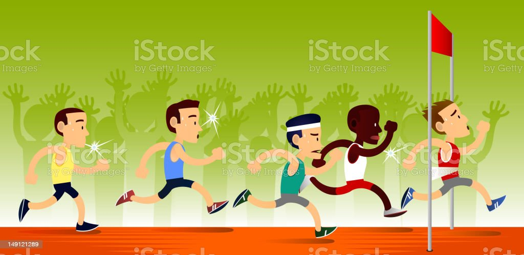 end of the race royalty-free stock vector art