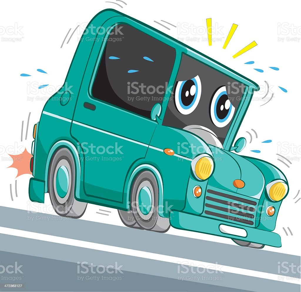 end of the road.. royalty-free stock vector art