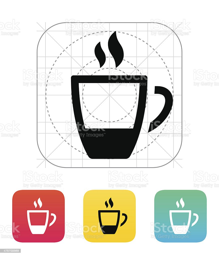Ending coffee cup icon. royalty-free stock vector art