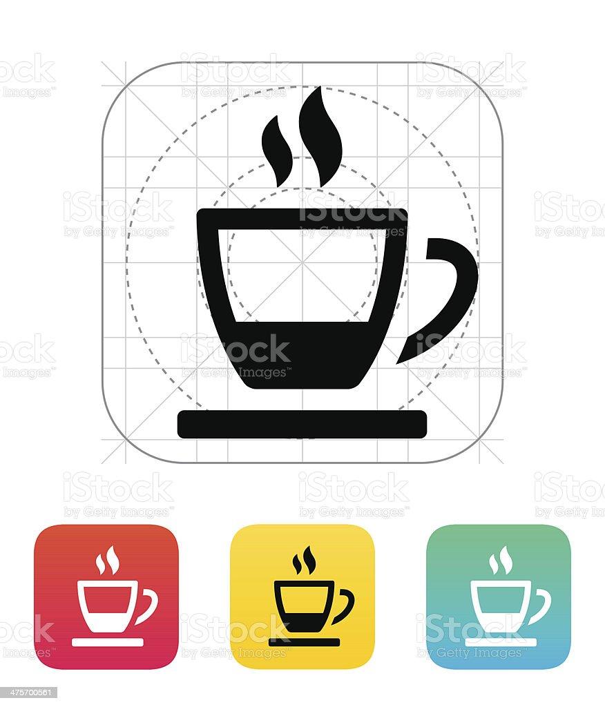 Ending tea cup icon. royalty-free stock vector art