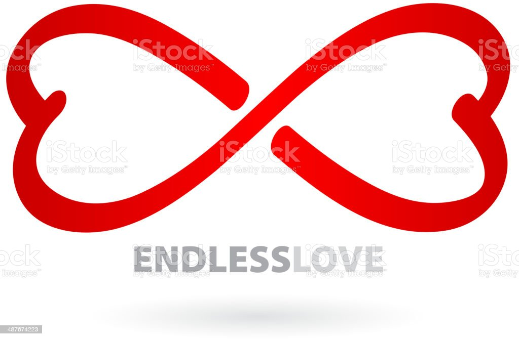 Endless love infinity symbol. vector art illustration