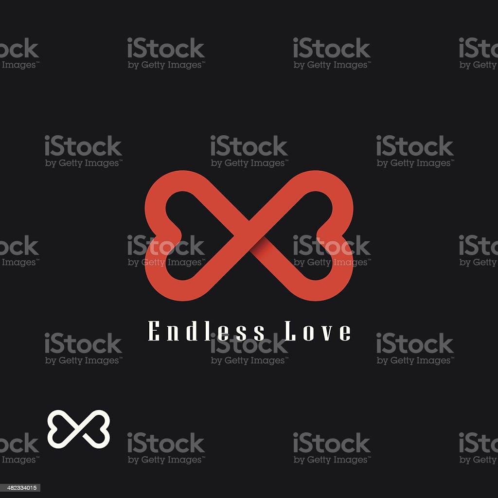 Endless love symbol vector art illustration