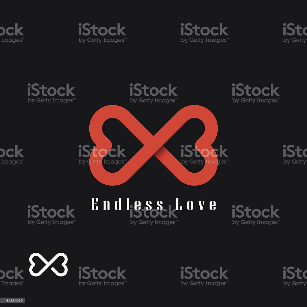 Endless love symbol vector art illustration